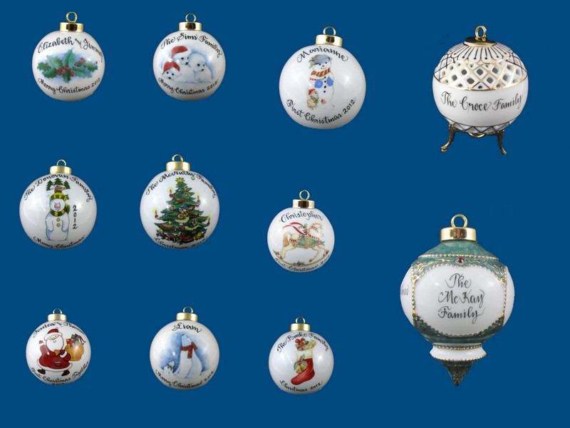 Christmas Balls- A Painted Name Exclusive