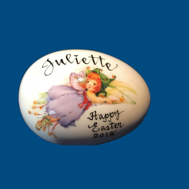 *NEW * Personalized Hand Painted  Easter Egg with New Fairy*-gift baskets, porcelain eggs, porcelain keepsake, porcelain painted, easter for kids, holiday gifts, personalized gifts, baby gifts, kids gifts, unique gifts, Easter, Easter Eggs, Solid Easter Eggs, Eggs with Names, Just for Easter, New Baby, New Baby Easter, First Easter, Personalized Easter Eggs, Porcelain Easter Eggs, Porcelain Easter