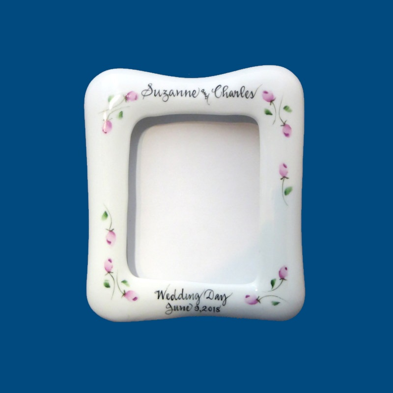 edad0c41117  Wedding Frame Personalized Hand Painted Porcelain Wedding Frame. Let us  make the perfect frame for your