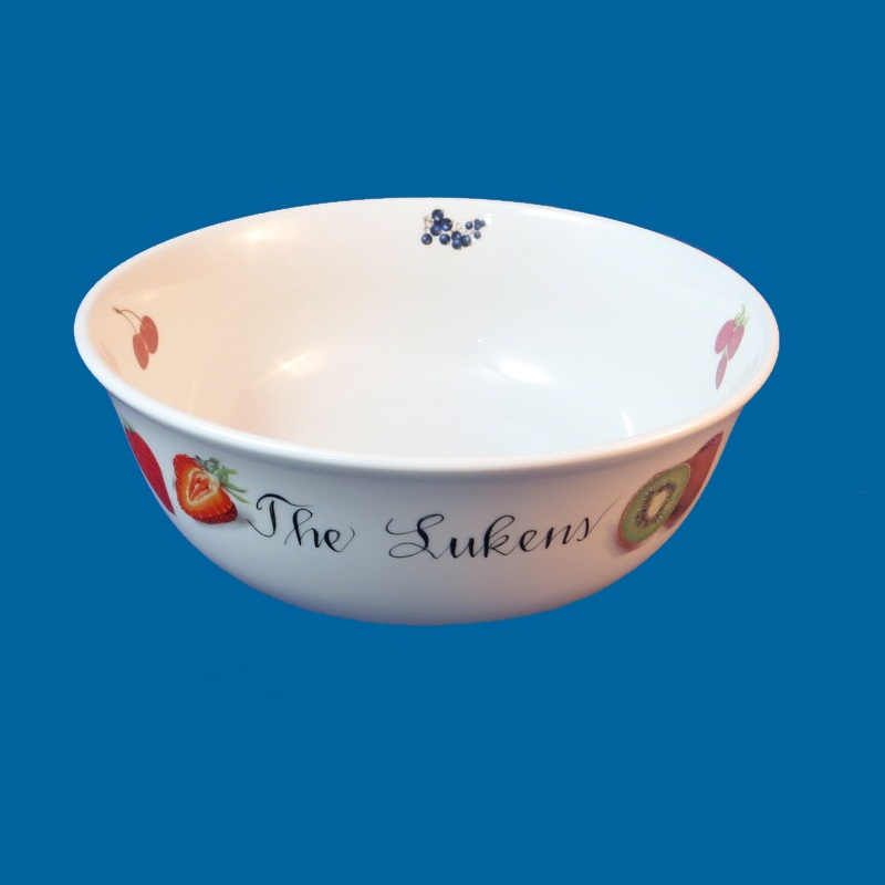 *NEW  Personalized Hand Painted Porcelain Fruit Bowl-gift idea, personalized gifts, personalized gift, wedding gifts, anniversary gifts, bridal shower gifts, porcelain, porcelain bowl, porcelain bowls, white porcelain, serving bowls, porcelain painted, pasta bowls, porcelain dinnerware, bowl