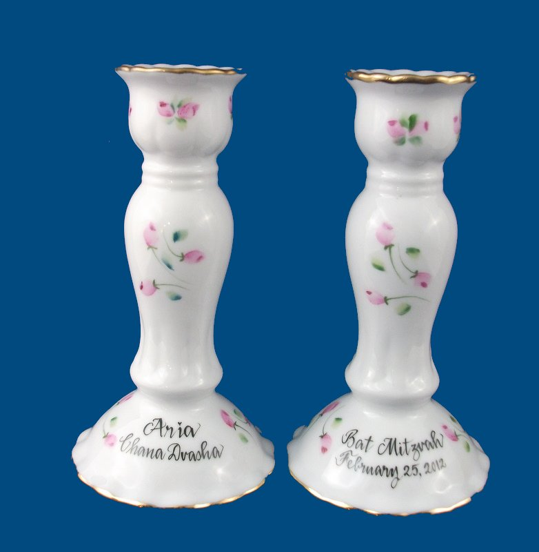 Candlesticks with Rosebuds
