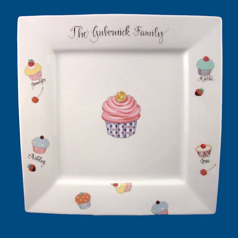 Personalized Hand Painted Porcelain Square Cake Plate-gift idea personalized gift personalized gifts  sc 1 st  The Painted Name & Personalized Gifts | Hostess Gifts | Cake Plate