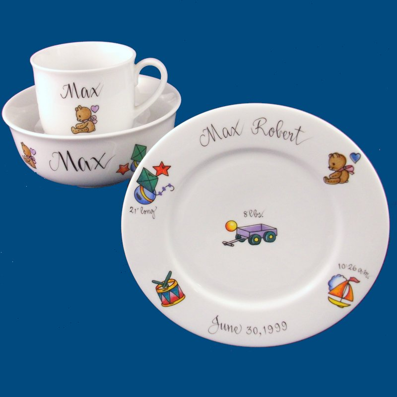 Dish Set with Boy Toys