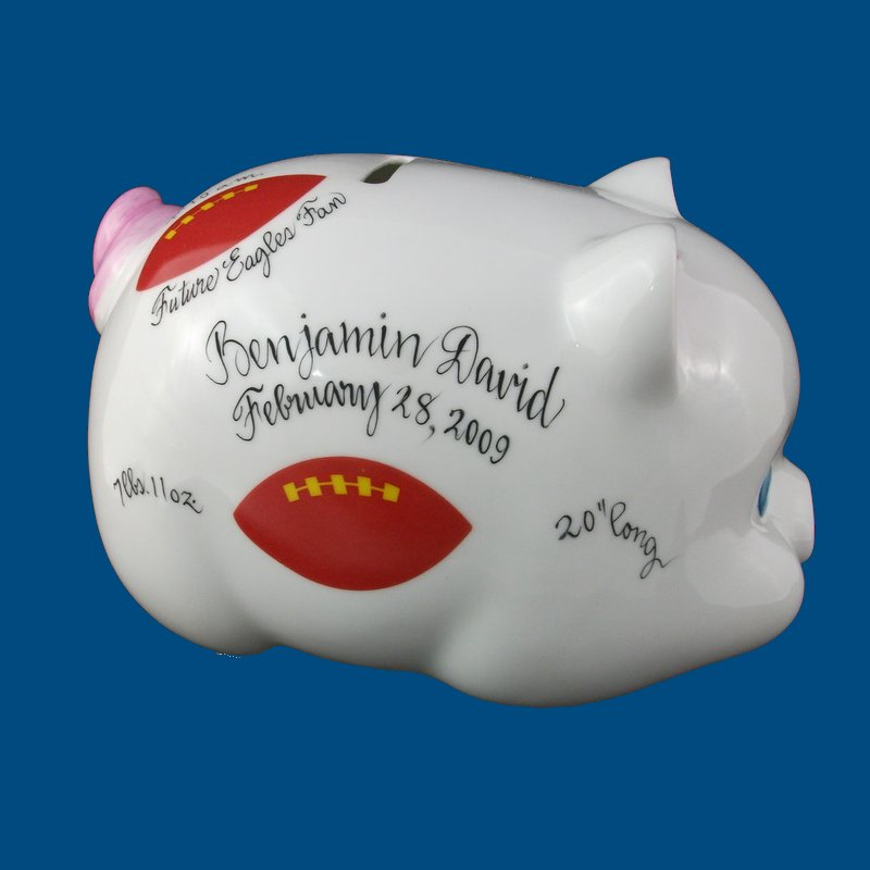Piggy Bank with Football