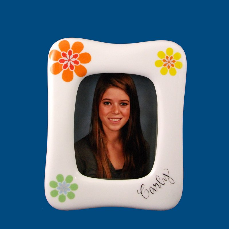 Personalized Hand Painted Porcelain Teen Picture Frame-gift idea, personalized gifts, personalized picture frames, picture frames, graduation frames, birthday gifts