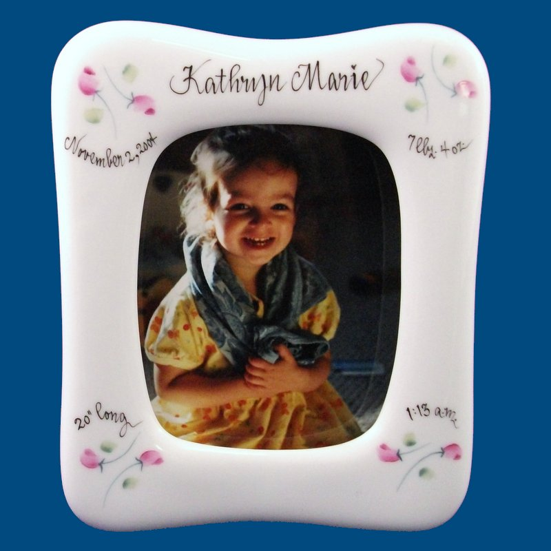 Baby Frame with Rosebuds