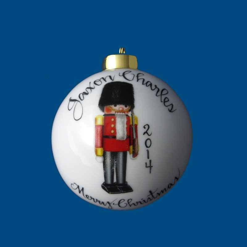 Personalized Hand Painted Christmas Ball w/ Nutcracker*-gift idea, personalized gifts, christmas, christmas gifts, christmas gift ideas, xmas ornaments, christmas ornaments, gifts for christmas, present ideas, ornament, christmas tree ornaments, personalized christmas ornaments, homemade christmas ornaments, first christmas ornaments, christmas ball ornament, engraved christmas ornament, christmas balls, christmas ball decorations