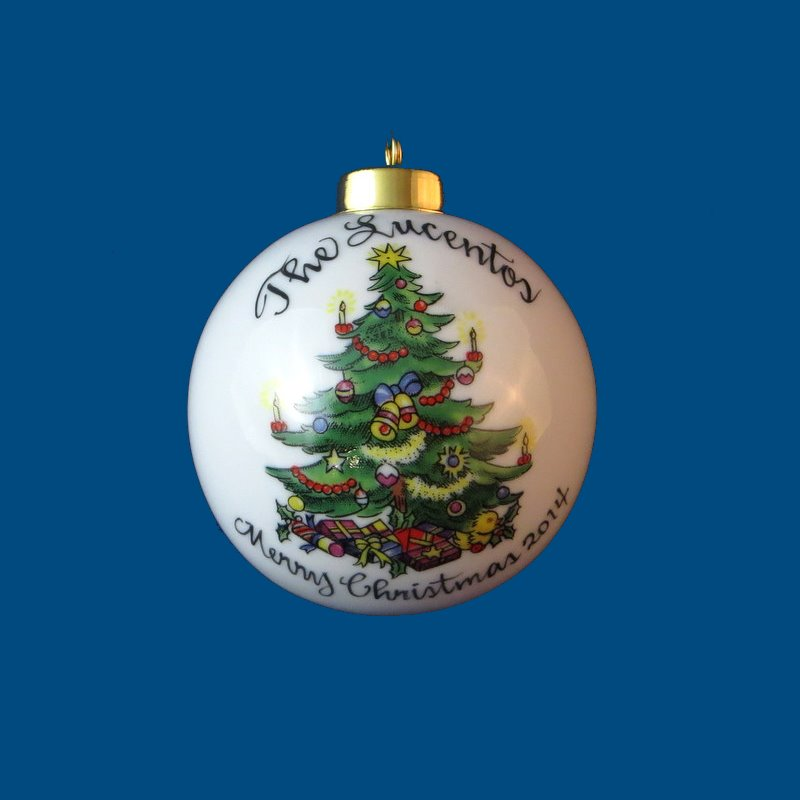 Personalized Hand Painted Porcelain Christmas Ball w/ Tree*-gift idea, personalized gifts, christmas, christmas gifts, christmas gift ideas, xmas ornaments, christmas ornaments, gifts for christmas, present ideas, ornament, christmas tree ornaments, personalized christmas ornaments, homemade christmas ornaments, first christmas ornaments, christmas ball ornament, engraved christmas ornament, christmas balls, christmas ball decorations