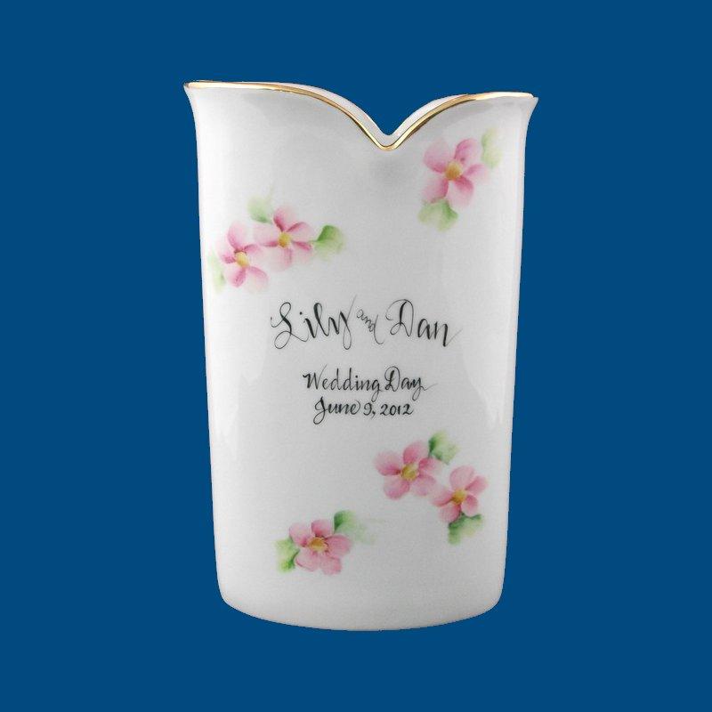 Personalised Vase Wedding Gift : ... gift, personalized wedding gift, unique wedding gift, porcelain vase