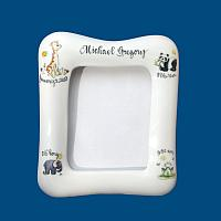 Personalized Hand Painted Porcelain Baby Frame with Animals*