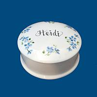 Personalized Hand Painted Round Porcelain Box*