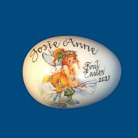 *New Design* Personalized Hand Painted Porcelain Easter Egg with Daisy Fairy