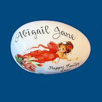 *New Design* Personalized Hand Painted Easter Egg with Red Fairy