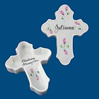 Personalized Hand Painted Porcelain Cross Box