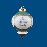 Personalized Hand Painted Porcelain Victorian Christmas Ornament