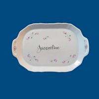 Personalized Hand Painted Porcelain Sm. Dresser Tray*