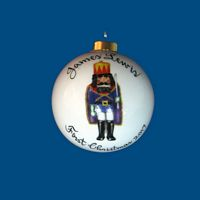 Personalized Hand Painted Porcelain Christmas Ball with King Nutcracker  Design