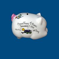 Personalized Hand Painted  Piggy Bank with Toy Design*