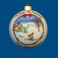 *New Design* Personalized Hand Painted Porcelain Christmas Ball with Sleigh Scene