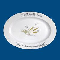 Personalized Hand Painted Religious Bread Platter*-Christian Gifts, Christmas Platter, Bread Plate, Inspirational quotes, Holiday Platter, Bread Plate, Christian Bread Platter, Wedding Gift