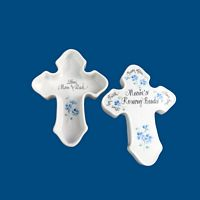 Personalized Hand Painted Rosary Bead Cross Box