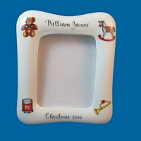 Personalized Porcelain Picture Frame with Holiday Design