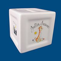 Personalized Hand Painted Porcelain Coin Bank