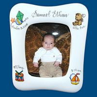 Personalized Hand Painted Porcelain Baby Picture Frame(12 designs to choose from)