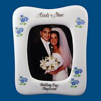 Personalized Hand Painted Porcelain Wedding Frame