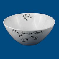 Personalized Hand Painted Porcelain Tilted Serving Bowl