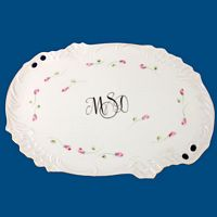 Personalized Hand Painted Porcelain Med. Oval Dresser Tray