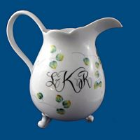 Personalized Hand Painted Porcelain Cocktail Pitcher*