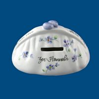 Personalized Hand Painted Porcelain Child's Purse Bank