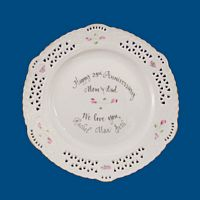 Personalized Hand Painted Porcelain Open Work Plate