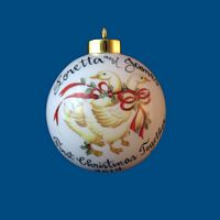 Personalized Hand Painted Christmas Ball w/ Geese