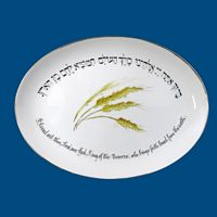 Personalized Hand Painted Porcelain Judaica Challah Plate