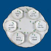 New Personalized Hand Painted Seder Plate with Individual bowls*-Passover. Passover Plate, Seder Plate, Passover Seder, Judaica, Judaica Gifts, Jewish, Holiday Gifts, Jewish Holidays, Spring Gifts, Seder, Pesach, Porcelain tray, torte tray, New House Gift, Wedding Gift, Jewish Wedding Gifts